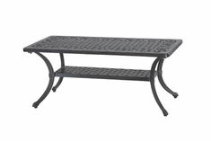 "Michigan By Gensun Luxury Cast Aluminum Patio Furniture 21"" x 42"" Rectangle Coffee Table"