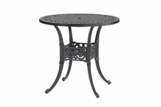 "Michigan By Gensun Luxury Cast Aluminum Patio Furniture 36"" Round Dining Table"