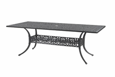 "Michigan By Gensun Luxury Cast Aluminum Patio Furniture 42"" x 86"" Rectangle Dining Table"