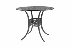 "Michigan By Gensun Luxury Cast Aluminum Patio Furniture 48"" Round Bar Height Table"