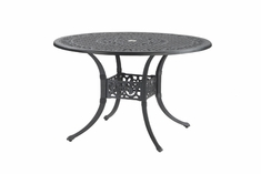 "Michigan By Gensun Luxury Cast Aluminum Patio Furniture 48"" Round Dining Table"