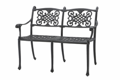 Michigan By Gensun Luxury Cast Aluminum Patio Furniture Bench
