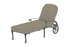 Michigan By Gensun Luxury Cast Aluminum Patio Furniture Chaise Lounge