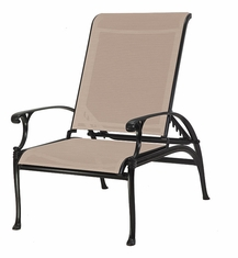 Michigan by Gensun Luxury Cast Aluminum Patio Furniture Sling Reclining Chair
