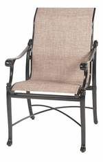 Michigan by Gensun Luxury Cast Aluminum Patio Furniture Sling Standard Back Dining Chair