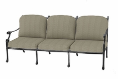 Michigan By Gensun Luxury Cast Aluminum Patio Furniture Sofa