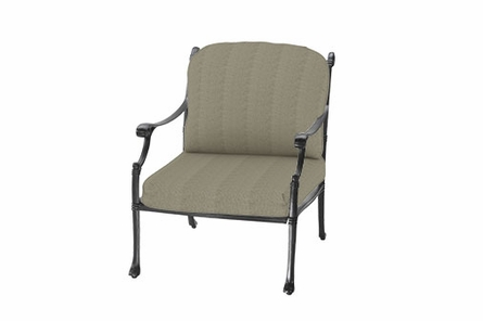 Michigan By Gensun Luxury Cast Aluminum Patio Furniture Stationary Club Chair