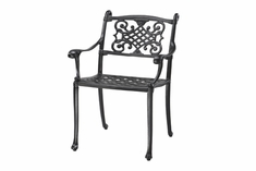 Michigan By Gensun Luxury Cast Aluminum Patio Furniture Stationary Dining Chair