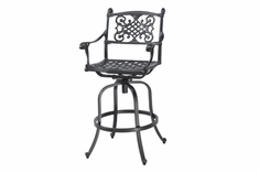 Michigan By Gensun Luxury Cast Aluminum Patio Furniture Swivel Balcony Chair