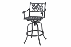 Michigan By Gensun Luxury Cast Aluminum Patio Furniture Swivel Bar Chair