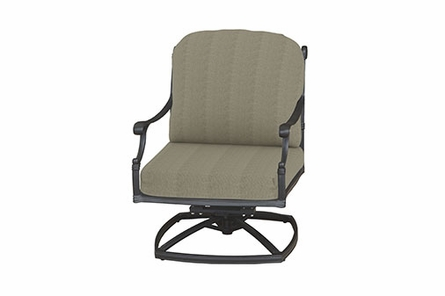 Michigan By Gensun Luxury Cast Aluminum Patio Furniture Swivel Club Chair