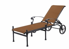 Michigan By Gensun Patio Furniture Padded Sling Chaise Lounge