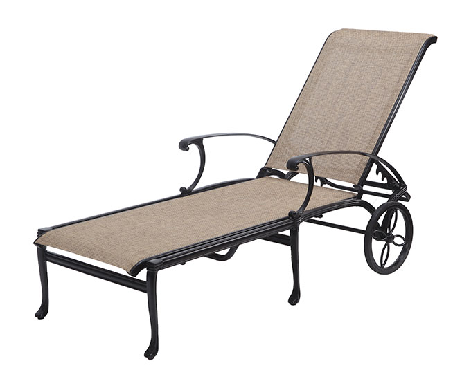 Michigan By Gensun Patio Furniture Sling Chaise Lounge. Loading Zoom