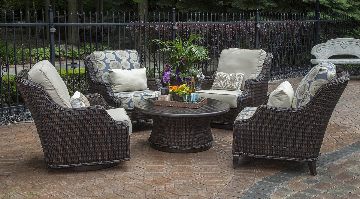 - Mila Collection All Weather Wicker Patio Furniture Conversation Set