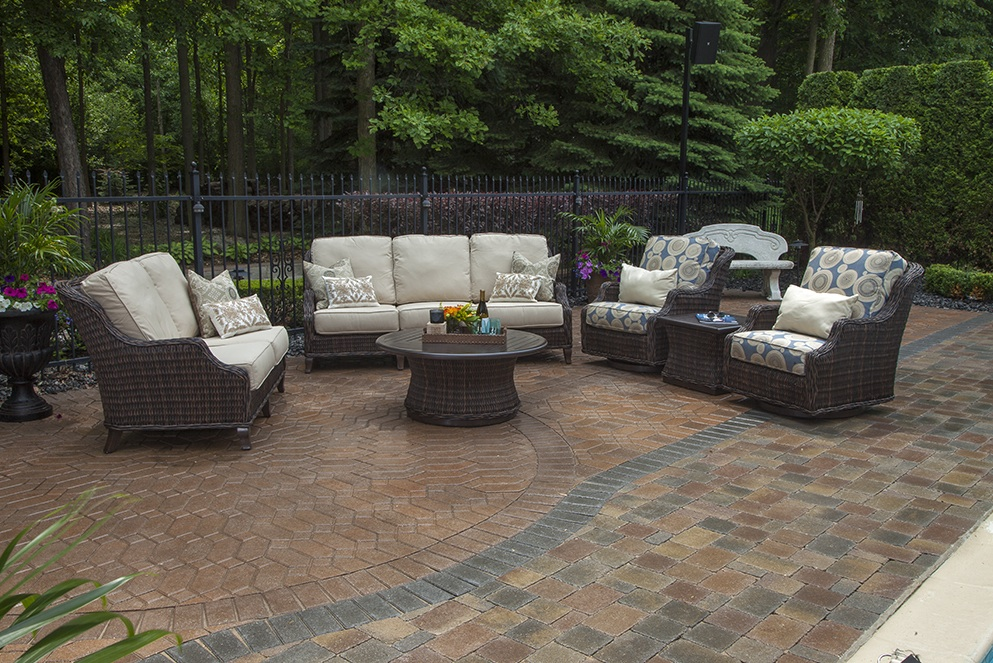 mila collection all weather wicker patio furniture deep seating set