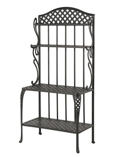 Newport By Hanamint Luxury Cast Aluminum Patio Furniture Baker's Rack