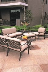 Newport By Hanamint 6-Piece Luxury Cast Aluminum Patio Furniture Deep Seating Set