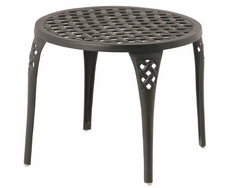 "Newport By Hanamint Luxury Cast Aluminum Patio Furniture 21"" Round Tea Table"