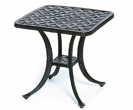 "Newport By Hanamint Luxury Cast Aluminum Patio Furniture 21"" Square End Table"