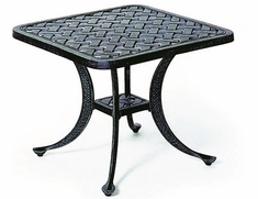 "Newport By Hanamint Luxury Cast Aluminum Patio Furniture 21"" Square Tea Table"