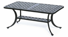 "Newport By Hanamint Luxury Cast Aluminum Patio Furniture 21"" x 42"" Rectangular Coffee Table"