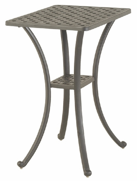"Newport By Hanamint Luxury Cast Aluminum Patio Furniture 22"" x 28"" Counter Height Table"