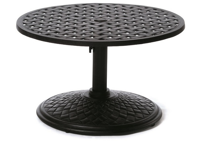 patio pe side with monty silver shop deals on steel hole wicker sunjoy ulax umbrella stone table outdoor and base furniture bistro stand