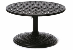 "Newport By Hanamint Luxury Cast Aluminum Patio Furniture 30"" Round Umbrella Side Table"