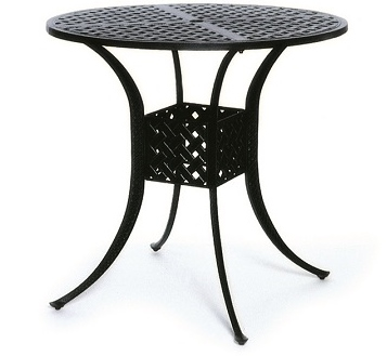 "Newport By Hanamint Luxury Cast Aluminum Patio Furniture 42"" Round Bar Height Table"