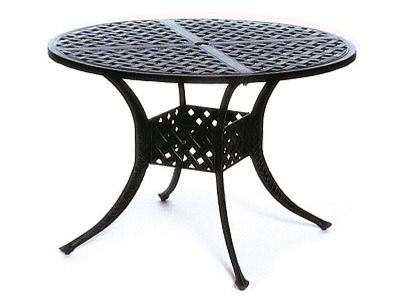 """Newport By Hanamint Luxury Cast Aluminum Patio Furniture 42"""" Round Dining Table"""