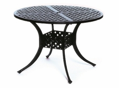 "Newport By Hanamint Luxury Cast Aluminum Patio Furniture 42"" Round Dining Table"
