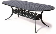 "Newport By Hanamint Luxury Cast Aluminum Patio Furniture 42"" x 84"" Oval Dining Table"