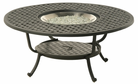 """Newport By Hanamint Luxury Cast Aluminum Patio Furniture 54"""" Round Drink Table"""