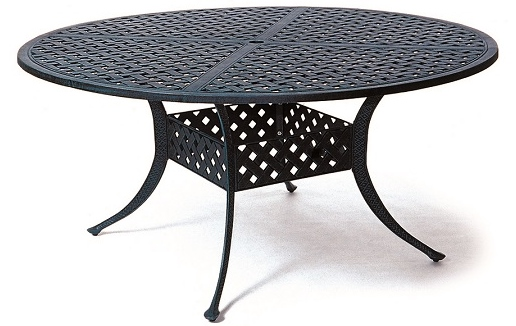 newport by hanamint luxury cast aluminum patio furniture 60 round rh openairlifestylesllc com 60 outdoor table 60 outdoor table