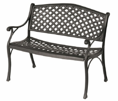 Newport By Hanamint Luxury Cast Aluminum Patio Furniture Bench