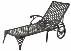 Newport By Hanamint Luxury Cast Aluminum Patio Furniture Chaise Lounge