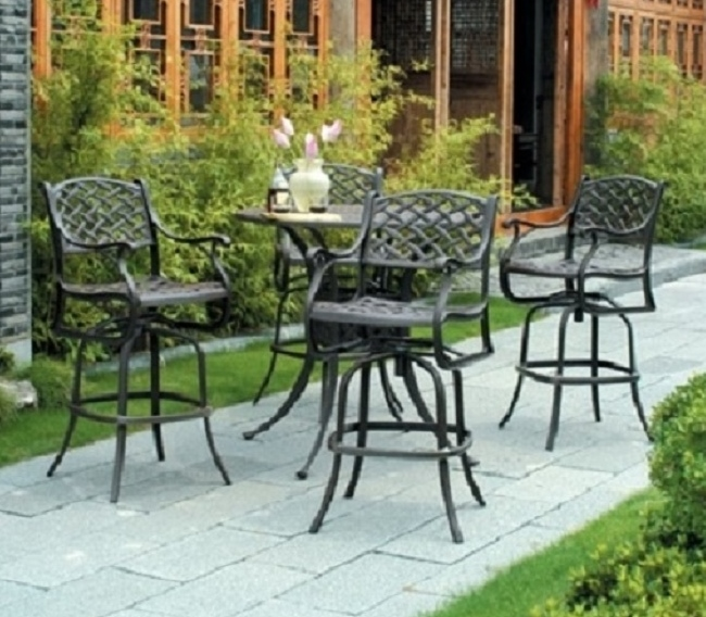 Newport By Hanamint Luxury Cast Aluminum Patio Furniture Swivel