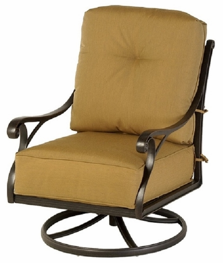 Newport By Hanamint Luxury Cast Aluminum Patio Furniture Swivel Club Chair