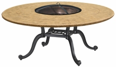 "Paradise Cast Aluminum 54"" Round Chat Height Outdoor Wood Burning Fire Pit"