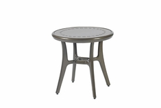 "Phoenix By Gensun Luxury Cast Aluminum Patio Furniture 22"" Round End Table"