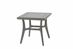 "Phoenix By Gensun Luxury Cast Aluminum Patio Furniture 22"" Square End Table"