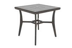 "Phoenix By Gensun Luxury Cast Aluminum Patio Furniture 30"" Square Dining Table"