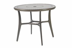"Phoenix By Gensun Luxury Cast Aluminum Patio Furniture 36"" Round Dining Table"