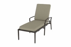 Phoenix By Gensun Luxury Cast Aluminum Patio Furniture Chaise Lounge