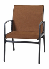 Phoenix By Gensun Luxury Cast Aluminum Patio Furniture Padded Sling Dining Chair
