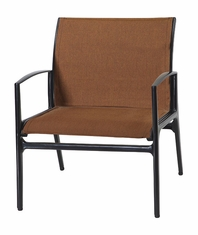 Phoenix By Gensun Luxury Cast Aluminum Patio Furniture Padded Sling Lounge Chair