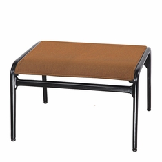 Phoenix By Gensun Luxury Cast Aluminum Patio Furniture Padded Sling Ottoman