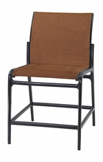 Phoenix By Gensun Luxury Cast Aluminum Patio Furniture Padded Sling Stationary Balcony Stool w/o Arms