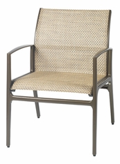 Phoenix By Gensun Luxury Cast Aluminum Patio Furniture Sling Dining Chair