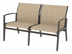 Phoenix By Gensun Luxury Cast Aluminum Patio Furniture Sling Loveseat